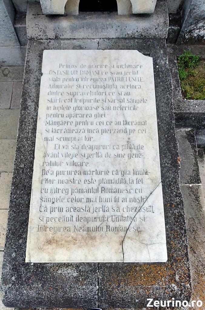 Placă cu text în română