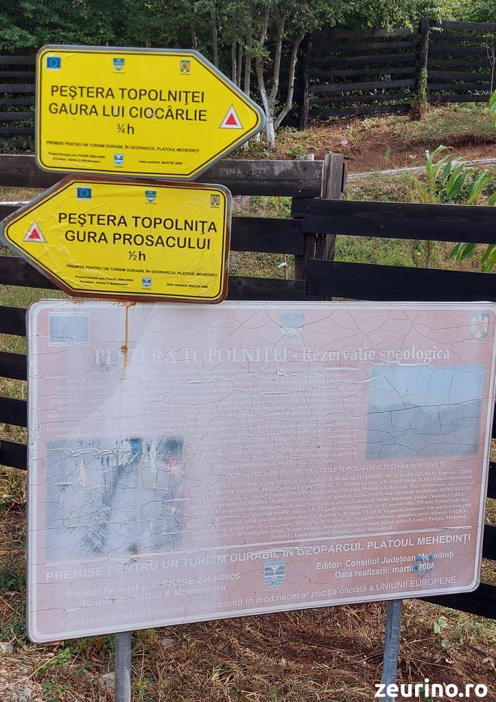 Peștera Topolniței -- Panou Informativ